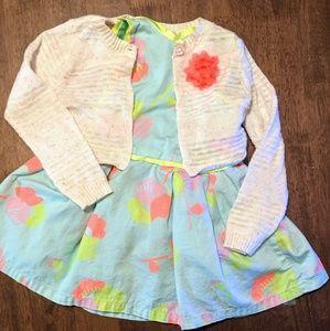Girls Cat & Jack Dress and Sweater Matching Set
